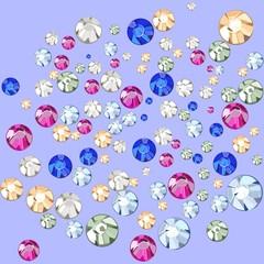 Multicolored crystals