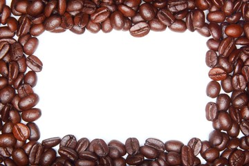 Frame of roasted coffee