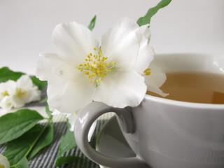 Weißer Tee und Sommerjasmin