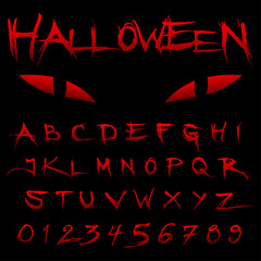 Halloween Blood Alphabet