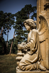 Statue of angel - Valtice, Czech Republic, Europe
