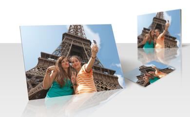 Tirage photo - 2 adolescentes en visite à Paris