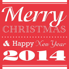 Vintage Christmas New Year card 2014