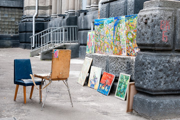Pitture per strada a Kiev