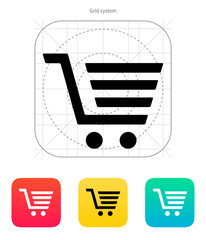 Shopping cart, trolley icon.