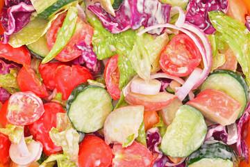 Vegetables And Fruits Salad Closeup