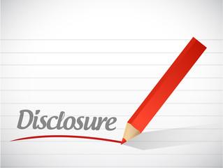 disclosure message written