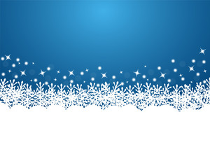 Merry Christmas background with snowflakes