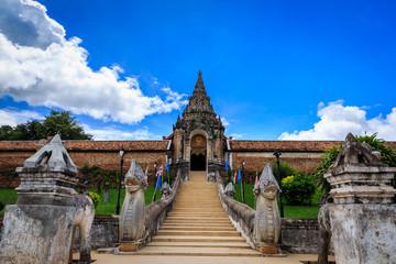 Arch way of Phra That Lampang Luang Thailand