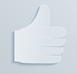 Paper like. Thumbs up, success. .