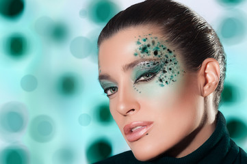 Beauty Fashion Girl with Fantasy Makeup