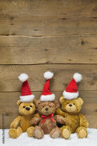 team drei teddy senden weihnachtsgr e holz. Black Bedroom Furniture Sets. Home Design Ideas
