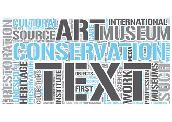Art conservation Word Cloud Concept