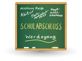 Schreibtafel - Schulabschluss DE