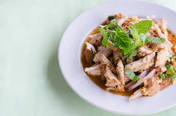Spicy roasting chicken salad
