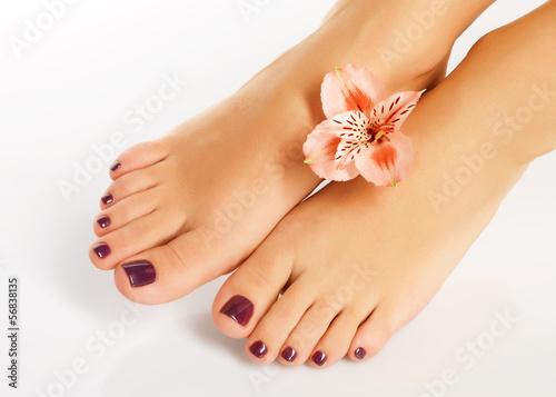 Как красивые пальчики у девушек на ногах обстрелом