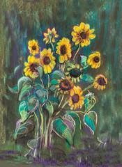 Decorative sunflowers