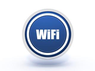 wifi circular icon on white background