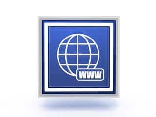 www rectangular icon on white background
