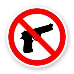 sticker of no gun sign
