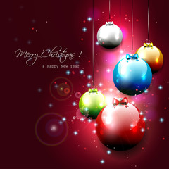 Luxury Christmas background with baubles
