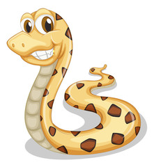 A smiling snake