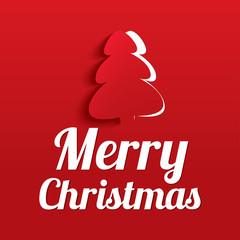 Merry Christmas Greeting Card. Christmas tree.