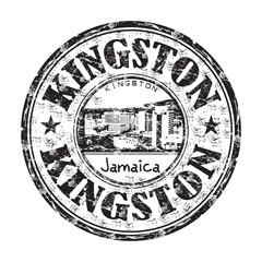 Kingston grunge rubber stamp