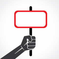 rectangle banner or placard in hand stock vector