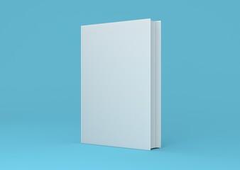 Buch Cover aufgestellt Hardcover Hintergrund blau