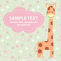 vector illustration with giraffe