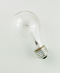 incandecent lightbulb isolated on a white background