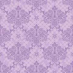 purple seamless floral damask Wallpaper
