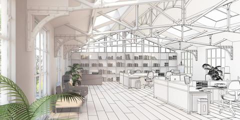 Büroflächen-Sanierung (Zeichnung)