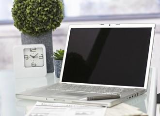 Closeup photo of laptop computer