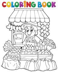 Coloring book farmer theme 2