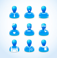 set of humans icons