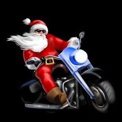 Fototapete - biker natalizio