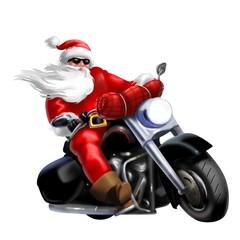 Wall Mural - biker natalizio