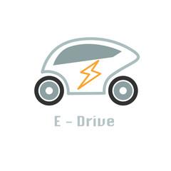 eco car icon design concept