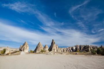 Fairy chimneys and lots of blue sky, Cappadocia