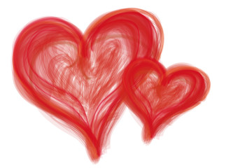 rot Herz angemalt herzen