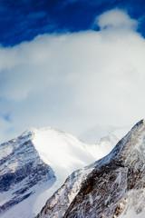 snowy peaks against the blue sky, Austria