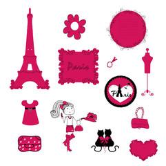 In de dag Doodle paris. small details in pink.
