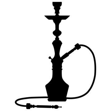black silhouette of a hookah