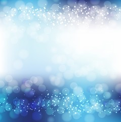 Blue Background With Bokeh And Blur.