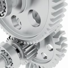 Metal shafts, gears and bearings