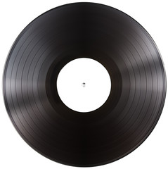 vinyl record album LP isolated with clipping path included