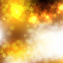 Abstract Golden Holiday Background.
