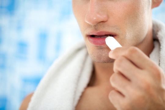 Male lips care